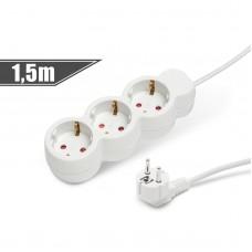 Elektromos hosszabító 3-as/1,5m kapcsolóval