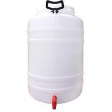 Hordó 120 literes menetes tetővel csappal SB.