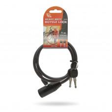 Kerékpár zár 2 kulcsos 8 mm/100 cm