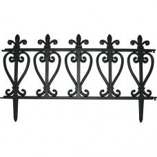 Kerítés műanyag 57x32,5cm 4db/csomag, fekete mintás