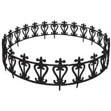 Kerítés műanyag kör alakú 47x24,5cm 6db/csomag, fekete mintás