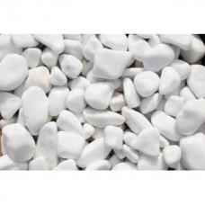 Márvány kavics Tassos hófehér 20-50 mm 25 kg